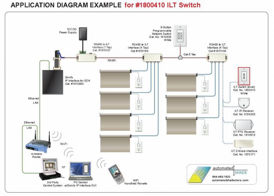 Somfy 1800410 Low Voltage Ilt Push Button Decora Wall