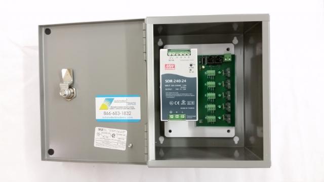 5-motor 24v Dc X 10 Amp Power Panel
