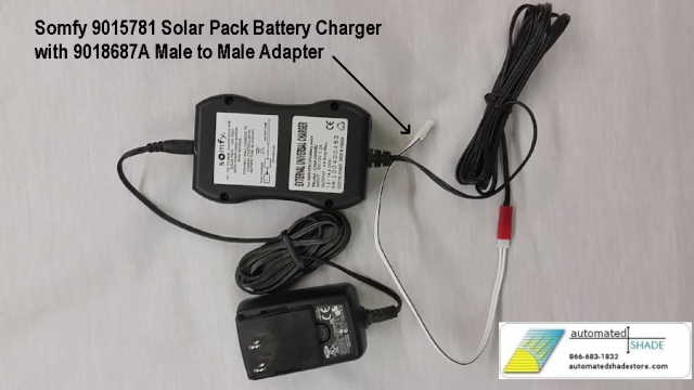 Somfy 9015781 Solar Pack Battery Charger Automated Shade