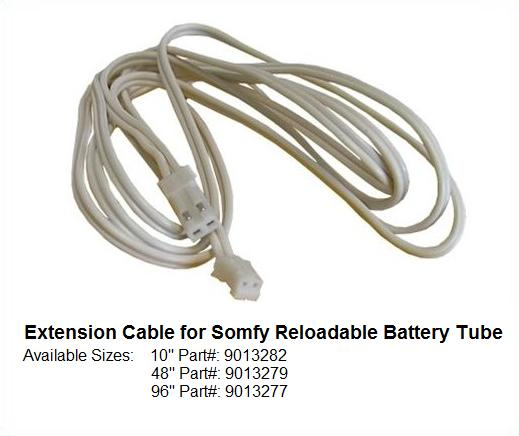 48 U0026quot  Extension Cable For Somfy 12v Dc Battery Tube