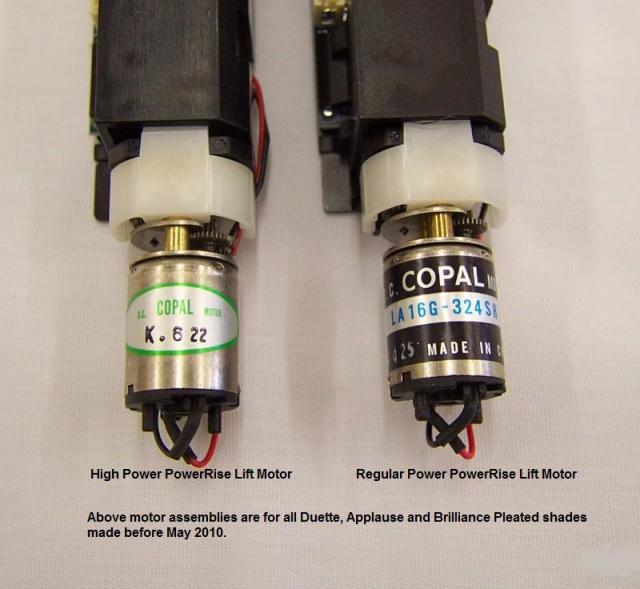 Hunter Douglas Powerrise 1 0 Shade High Power Lift Motor
