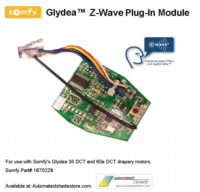 Glydea Z Wave PlugIn Module automated shade store somfy glydea zwaveplug in control module Z-Wave Relay Module at webbmarketing.co