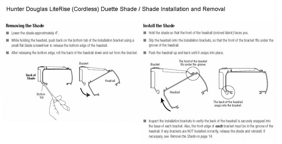 Hunter Douglas Literise Cordless Transmission Types Hunter Douglas Literise Cordless Shade Install Remove