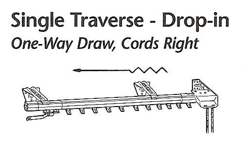 Kirsch Superfine Traverse Rod 1 Way Cords Right