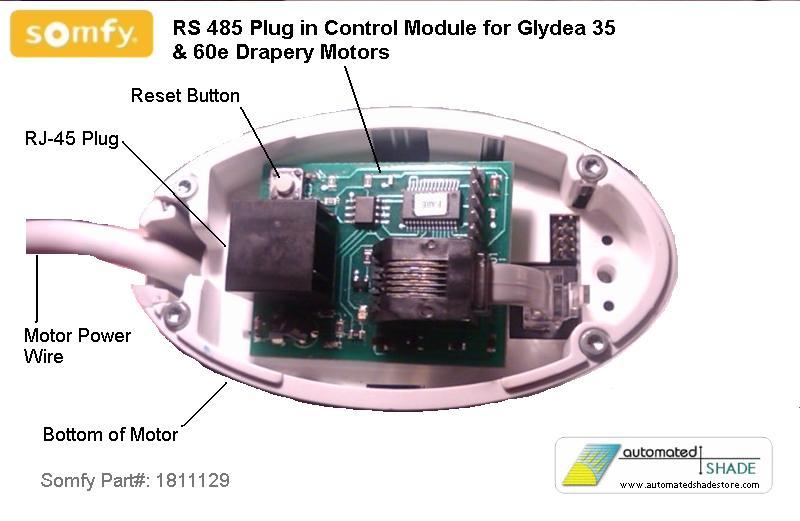 Somfy Glydea Rs 485 Sdn Plug In Control Module 1811129