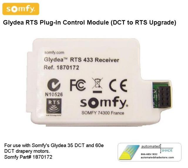 Somfy Glydea Rts Plug In Control Module Dct To Rts