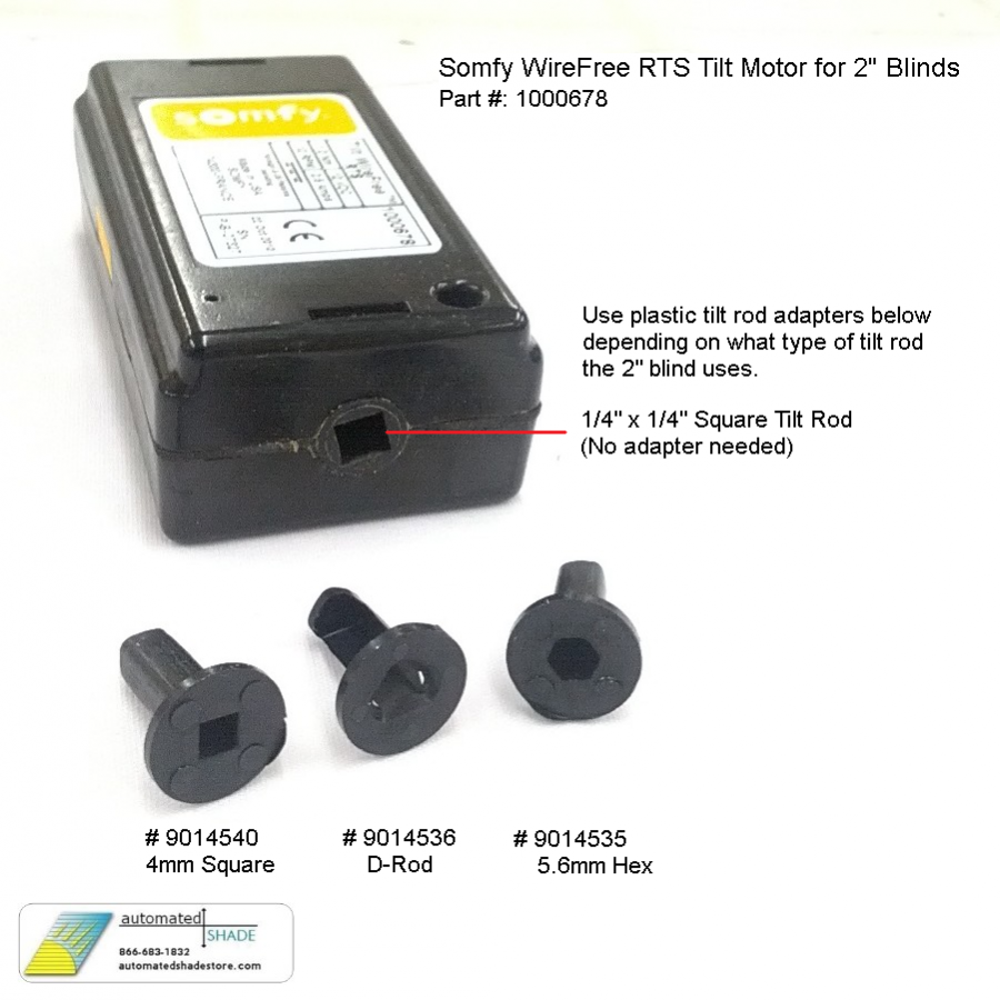 somfy wirefree rts tilt motor 1000678 or 1002822